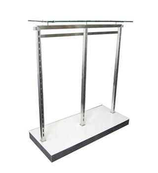 MA Skinny Rack 2 Bay with Glass Top